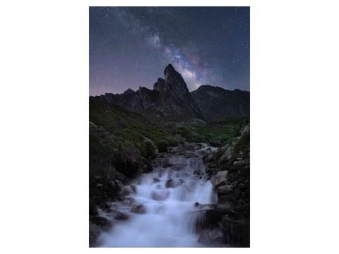 Bild Sternenhimmel Alpen